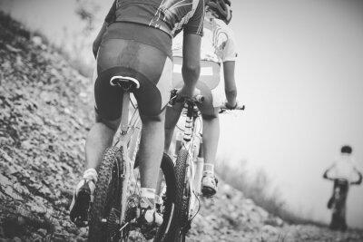 Plakat ragazzo ciclista gara di Mountainbike