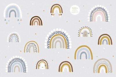 Plakat Rainbow pattern kids decor white background logo design background fashion wedding invitation christmas card retro christmas winter poster font wedding abstract christmas logo flyer brochure