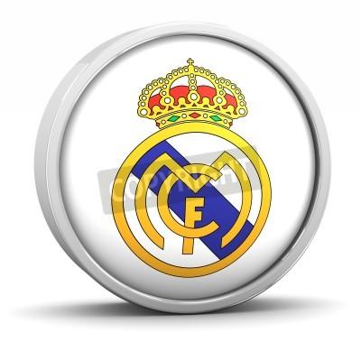Plakat Real Madrid logo with circular metal frame. Part of a series.
