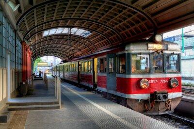 Plakat red train
