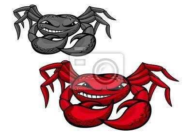Red zły krab z pazurami