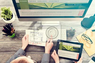 Plakat Responsive web design