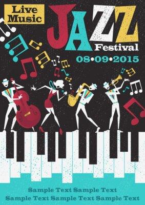 Plakat Retro Abstrakt Jazz Festival Poster