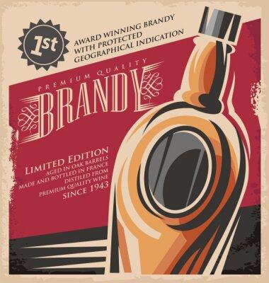 Plakat Retro pić kreatywne drukowane mediaconcept