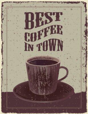 Plakat Retro Vintage plakat kawy