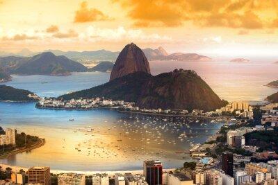 Plakat Rio De Janeiro, Brazylia w półmroku