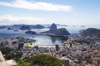 Plakat Rio de Janeiro. Ogólny widok na miasto.