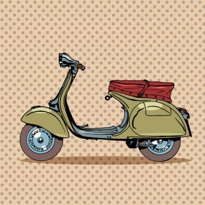 Plakat Rocznik skuter transportu retro