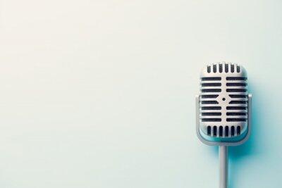 Plakat rocznik srebrny mikrofon