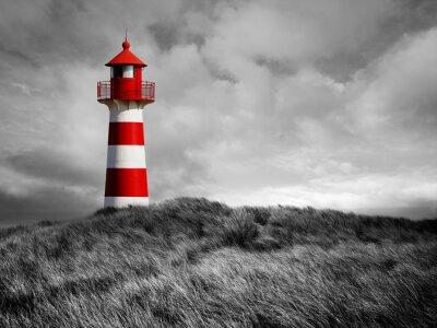 Plakat Rot-Weißer Leuchtturm
