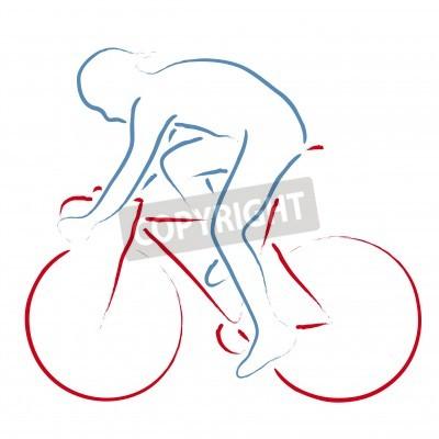 Plakat rowerzysta