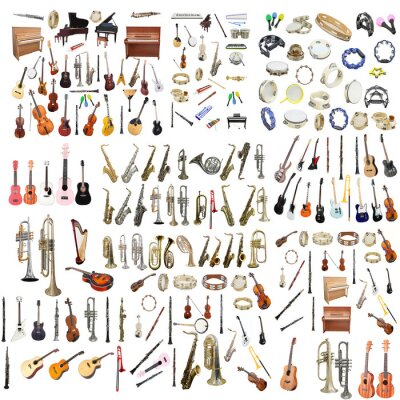 Różne Instrumenty Muzyczne Plakaty Na ścianę Plakaty Mandolina