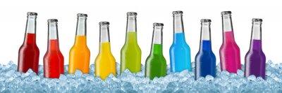 Plakat Różne napoje na kruszonym lodzie