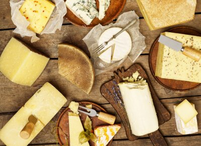 Plakat Różne rodzaje sera