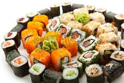 Plakat Różne typy Maki Sushi