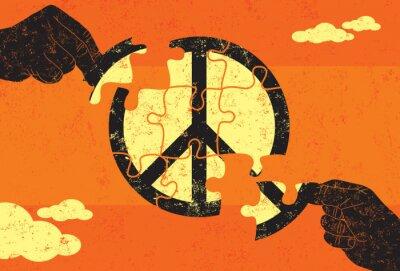 Plakat Rozwiązanie dla Pokoju