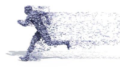 Plakat Running Man z bloków