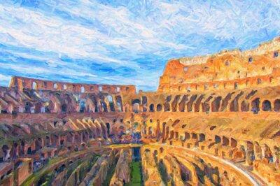 Plakat Rzym Koloseum Digital Painting
