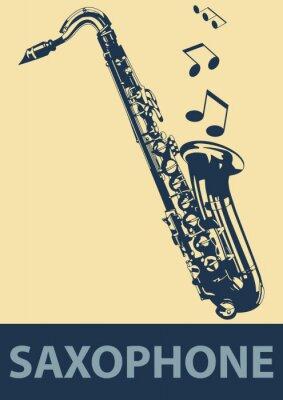Plakat Saksofon pop