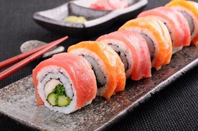 Plakat Salmon & Roll Sushi z tuńczyka