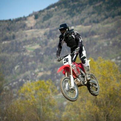 Plakat salto con moto