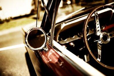 Plakat Samochód retro fragment