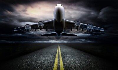 Plakat Samolot na pasie startowym