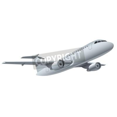 Plakat samolot odrzutowy