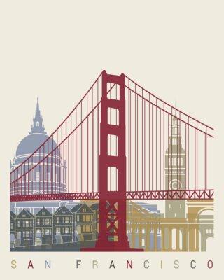 Plakat San Francisco Skyline Plakat