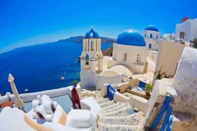 Plakat Santorini, Grecja