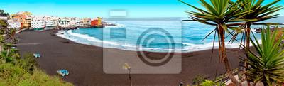 Scenic krajobraz.Canary wyspa Seascape.Tenerife.Sunset dekoracje Hiszpania morza i wyspy.Beach przygody i podróży concept.Puerto de la cruz