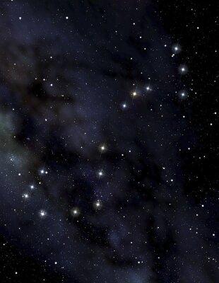 Plakat Scorpion konstelacji na nocnym niebie