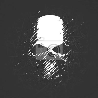 Plakat Scratch ilustracja czaszki