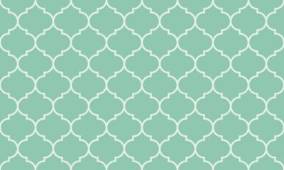 Plakat Seamless turquoise wide moroccan pattern vector