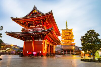 Plakat Senso-ji Temple at Asakusa area in Tokyo, Japan