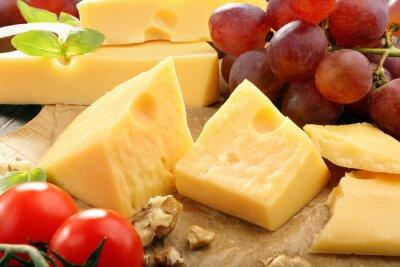 Plakat Ser żółty skład na pokładzie sera