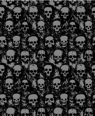 Plakat set of hand drawn skulls