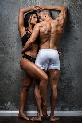 Plakat Sexy para w bieliźnie