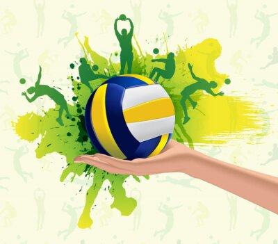 Plakat Siatkówka, sport, tło projektu