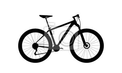 Plakat silhouette mountain bike vector