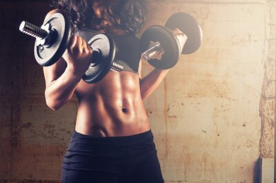 Plakat Silne ciało kobieta trening
