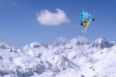 Plakat Skoki narciarz