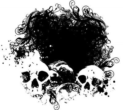 Plakat Skull black