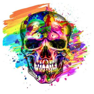Plakat skull in the shape of a skull