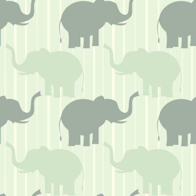 Plakat śliczny pastelowy Słoń bez szwu wzór tła ilustracji wektorowych