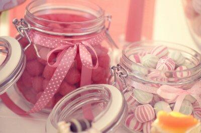 Plakat Słoik ze słodyczami