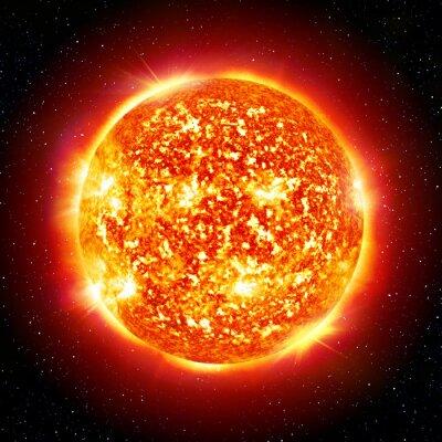 Plakat Słońce planety