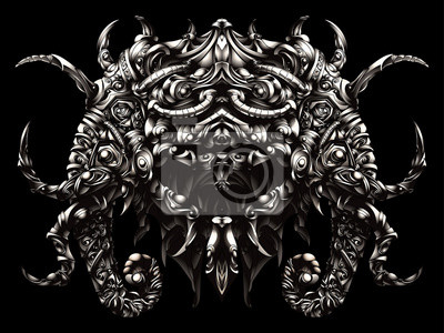 słonie osłona metalowa