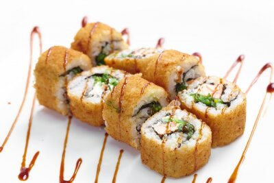 Plakat smaczne sushi