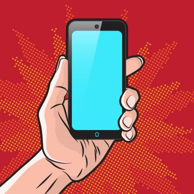 Plakat Smartphone w ręce